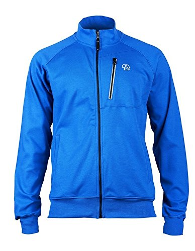SUDADERA HARZ algodón orgánico abierta con bolsillo en el pecho. (l, azul)