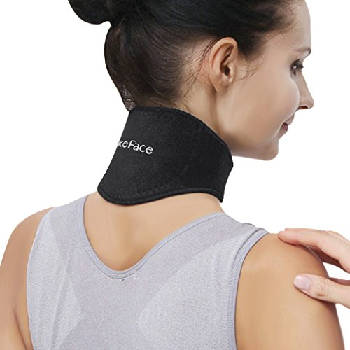 Neck Brace,Neck Support Brace Neck Pain Relief Strap Self Heated Natural Physical Therapy Healing Neck Wrap for Men Women Flexible Cervical Collar Neck Pain Relief Stiffness Travel Brace by Clobeau