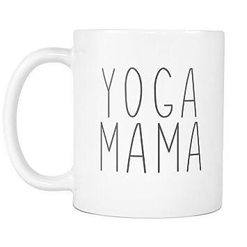 Amazon.com: Yoga Mama Mug - Handwritten Design, 11oz Ceramic ...