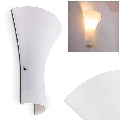 Schöne Wandleuchte Weiß Modern Wand Leuchte Wandlampe NEU Glas Beleuchtung