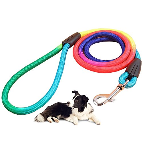 Runfish colorful pet harness dog traction with rope chain tether strap (S(neck circumference :7.8-13.3 in))
