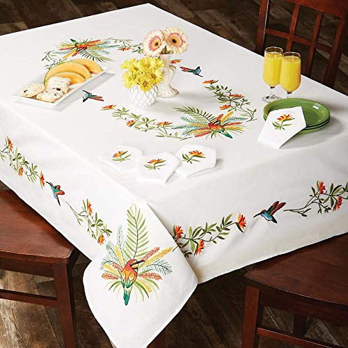 Herrschners® Tropical Birds Napkins Stamped Embroidery