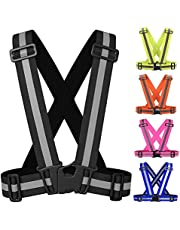 MS Adjustable Reflective Vest Belt For Safety With High Visibility (Black)