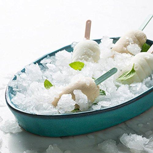 He Xiang Ya Shop Blue Large Dinner Plate Soup Plate Household Fruit Salad Dish Fish Plate Ceramic Dinnerware by He Xiang Ya Shop (Image #4)'