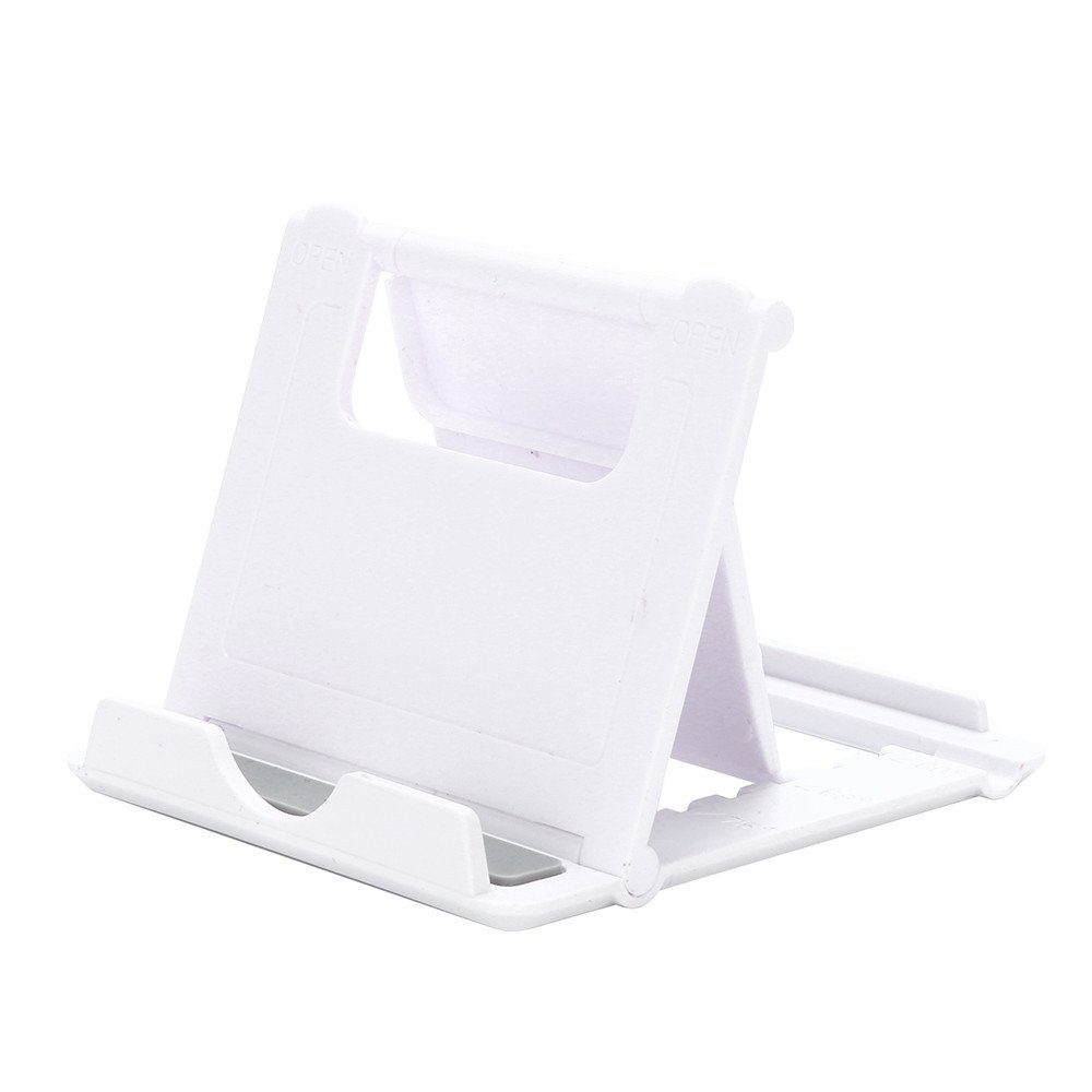 Universal Cell Phone Desk Table Desktop Stand Holder for Cell Phone Tablet Tab by Charberry (White)