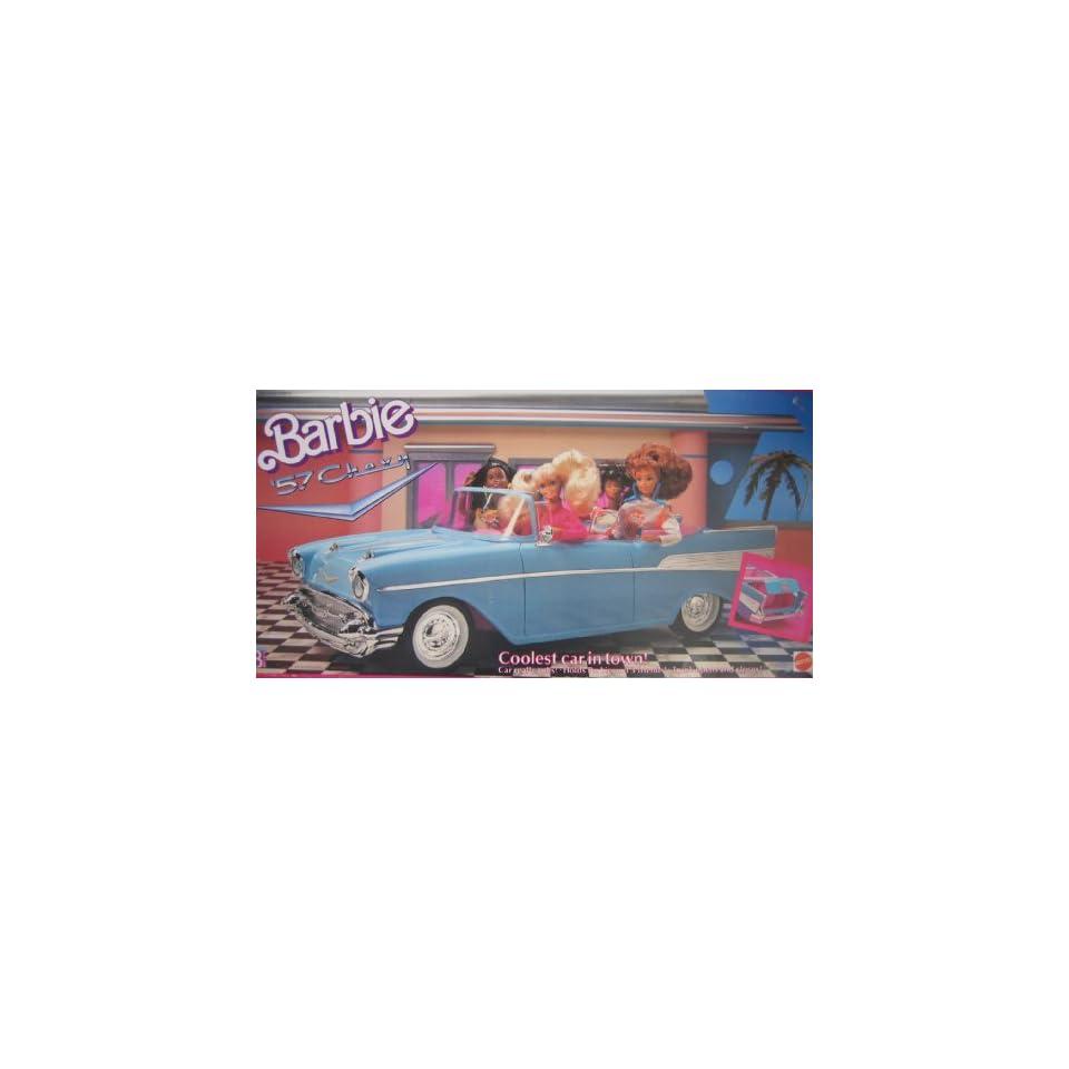 Barbie 57 Chevy Bel Air Convertible Car   Coolest Car in Town (1989 Mattel Hawthorne)