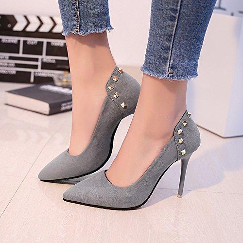 HRCxue Die high-heel Schuhe mit fein mit Schuhe Sexy satin Light von Wilden einzelne Schuhe Frauen arbeiten. 35 2c60b2