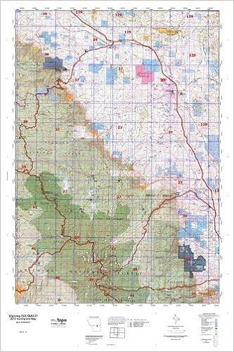 Wyoming ELK GMU 37 Hunt Area / Game Management Units (Gmu) Map ...