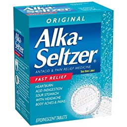 PhysiciansCare Alka Seltzer Antacid, Box of 72 Tablets