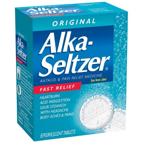 PhysiciansCare Alka Seltzer Antacid, Box of 72 Tablets