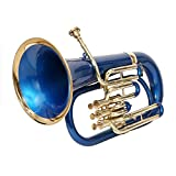 EUPHONIUM 3 VALVE Bb PITCH BLUE+BRASS WITH BAG AND MP