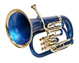 MOONFLAG Euphonium Black lacquered and Brass polished Bb 3 valve with hard case