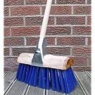 Stiff Heavy Duty Yard Brush Saddle Back Farmers Brush Broom Stiff PVC + Handle