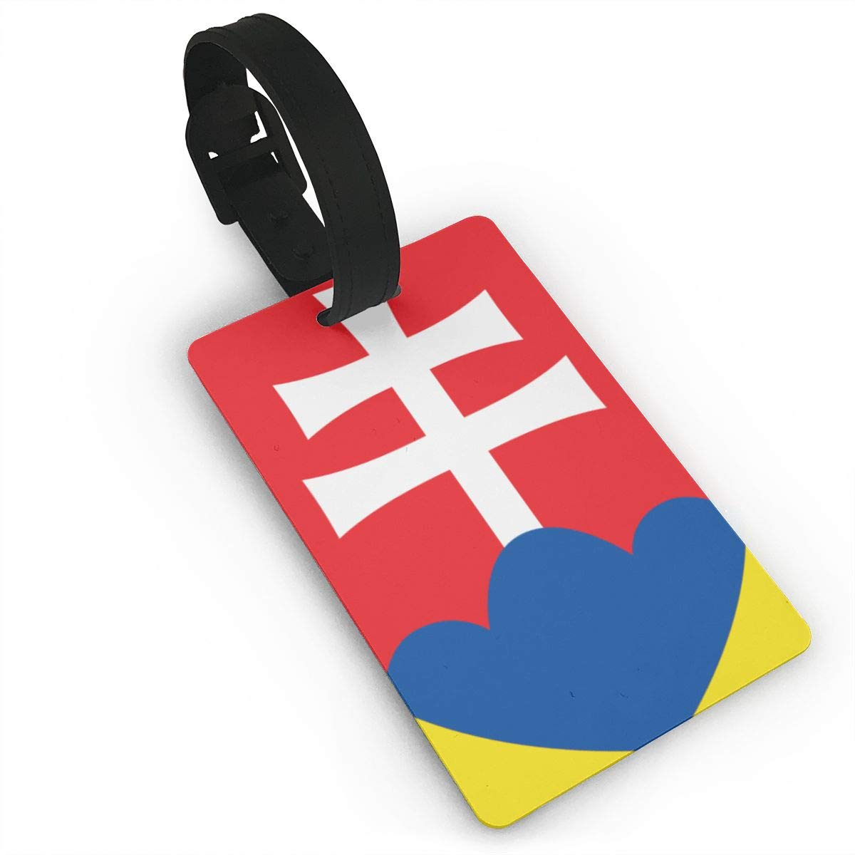 KODW12 Coat of Arms of Slovakia Luggage Tag Travel Bag Labels Suitcase Bag Tag Name Address Cards