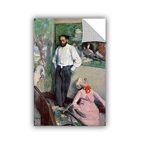 ArtWall Edgar Degas's Portrait of Henri Michel-Levy in His Studio Art Appeelz Removable Wall Art Graphic, 24 x 36