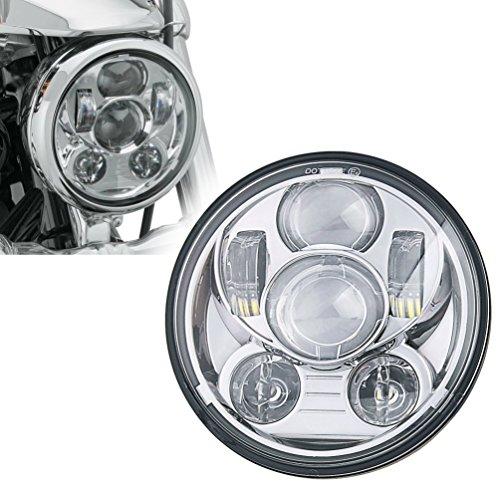 u Box Projection Daymaker Headlight Motorcycles Chrome