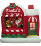 5 Foot Christmas Inflatable Santa Claus Workshop Yard Decoration