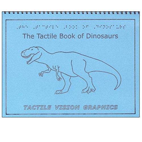 Tactile Book of Dinosaurs - Braille Childrens Book with Illustrations by MaxiAids