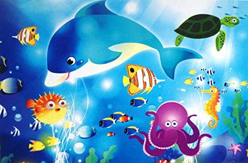 [Toys Educational Leaning preschool Cartoon Jigsaw Puzzle (Dolphin)] (Star Wars Kids Costumes Diy)