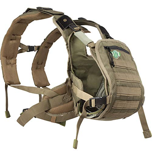 - Baby Carrier for Men Front Baby Holder for Dad | Army Style Design | Front and Rear Facing Baby
