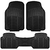 honda civic 2003 floor mats - FH Group F11306BLACK black All Weather Floor Mat, 3 Piece (Full Set Trimmable Heavy Duty)