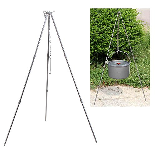 SUNREEK™New Camping Tripod Outdoor Picnic Cooking Tripod Portable Hanging Pot Campfire Grill Stand with Storage Bag by SUNREEK