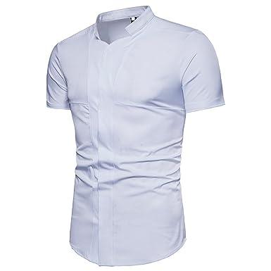 3182e6cb9467 Homme Chemise Tops Courtes Blouse T Tee Eté Manches Sfit Shirt Hq4xwRnO