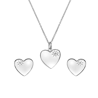 Hot Diamonds Women's Sterling Silver Shooting Star sparkle Set