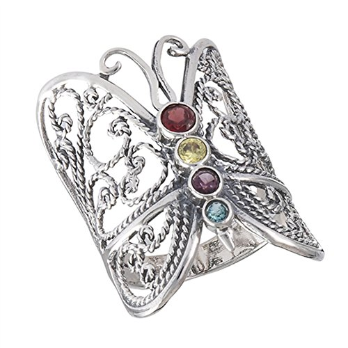 Filigree Butterfly Rope Heart Wings Ring New 925 Sterling Silver Band Size 8 ()