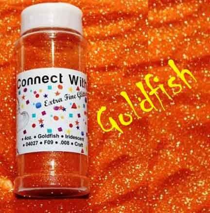 Goldfish, Extra Fine Poly Glitter 1/128, 4oz Shaker Bottle