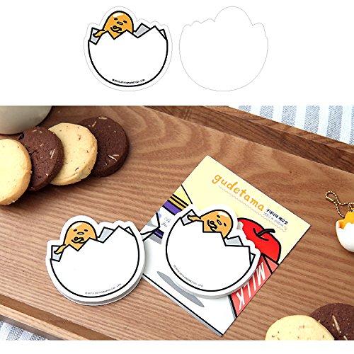 Sanrio Gudetama Lazy Egg Sticky Note Memo Pad Post It (50 Sheets) : Refrigerator