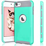 ipod 5 case light blue - iPod Touch 6 Case,iPod Touch 5 Case,Jwest Slim Fit Protective iPod Touch Case 2-Piece Style Hybrid Hard Case Cover for Apple iPod touch 5 6th Generation (Light Blue&Gray)