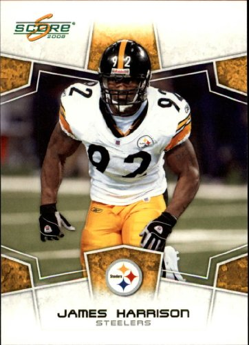 2008 Score Football Rookie Card #255 James Harrison Near Mint/Mint