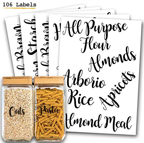 106 Pantry Labels Stickers by 7 Ruby Road for Kitchen Organization