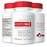 BlackFish 5 Kratos Max - Pre Workout Supplement for Muscle, Cardio, and Mental Focus, 120 Count