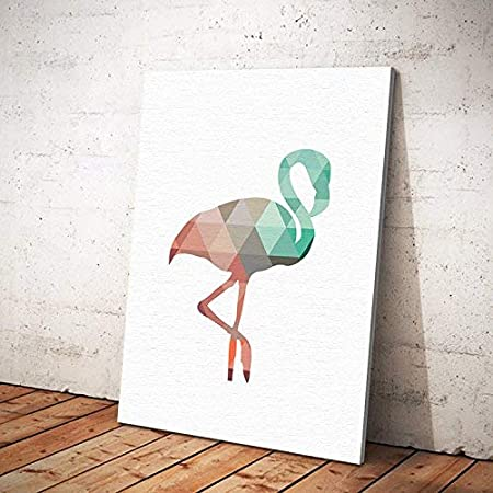 Pittura Per Pareti Ufficio.Kuke 9 8 X 11 8 Frameless Tela Flamingo Citazioni Pittura Poster