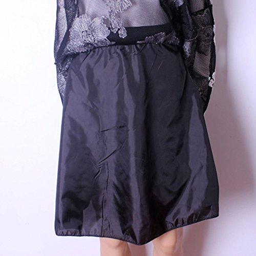 Mena UK Mujeres Estilo 50s Retro Esteticismo 3D Embroideryed Lace Enagua En Rodilla-Longitud Crinolina Vintage Faldas ( Color : Rojo , Tamaño : One Size ) Negro