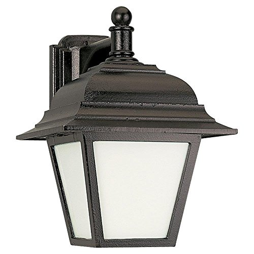 Sea Gull Lighting 89316PBLE-12 Bancroft Single Light Wall Lantern from the Bancroft Collection, Black