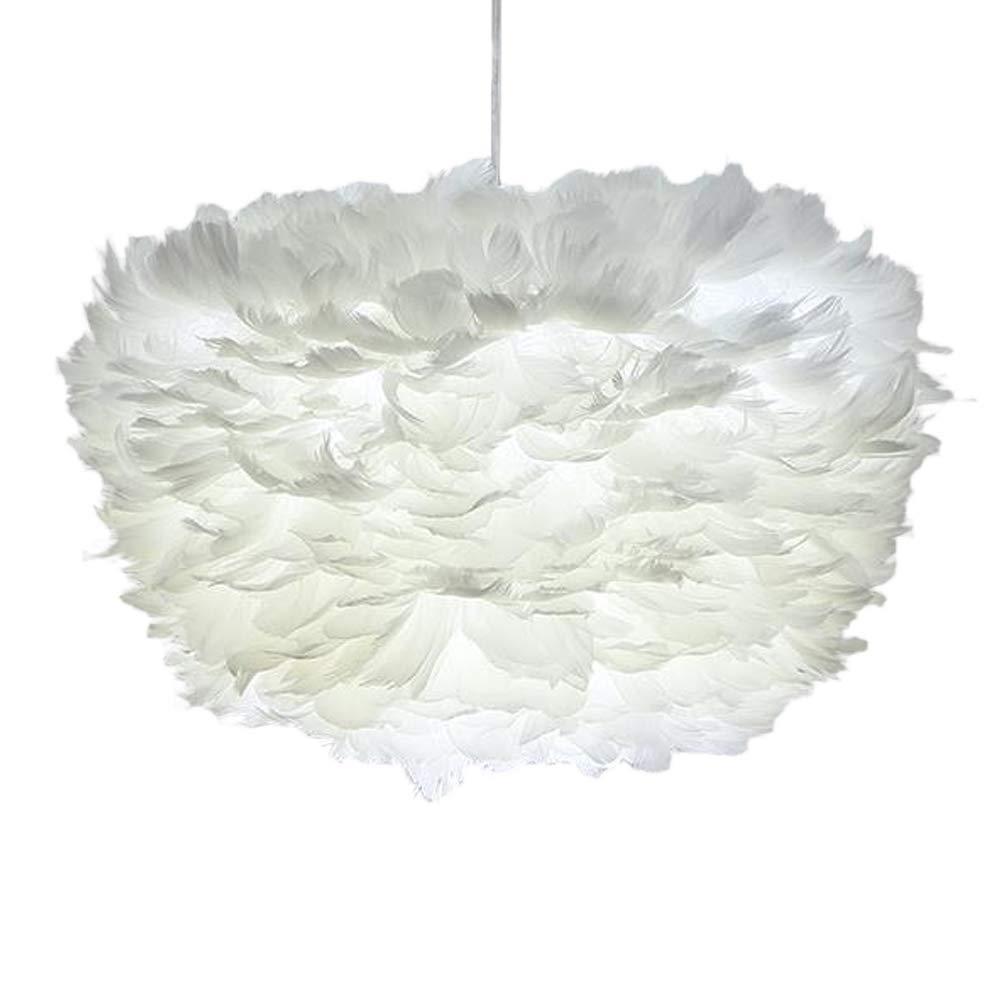 ホワイトフェザーシーリングランプ ペンダントライトシェード モダンクラウドシェイプスーツ シャンデリア E27ランプシェード フロアランプ 装飾用 リビングルーム ベッドルーム用 ホワイト B07GS46SNL Cloud Shape Ceiling Light