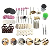 Rotary Tool Accessories Set, LEEGOAL 125pcs Multi Rotary Tool Accessory Kit for Easy Cutting, Sharpening, Carving, Grinding, Sanding, Engraving, Drilling, Polishing