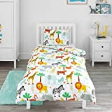 Bloomsbury Mill - Safari Adventure - Jungle Animals - Kids Bedding Set - Junior/Toddler/Cot Bed Duvet Cover and Pillowcase