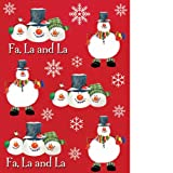 Christmas Snowman Carols - Sticker Sheets (4 count) Party Accessory