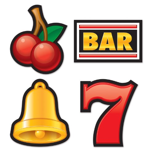 Beistle 54218 Slot Machine Cutouts, 16-Inch
