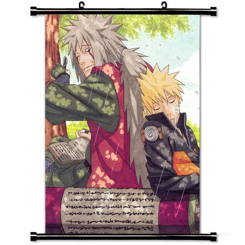 Sexy Poster 36 - Home Decor Trendy Handsome Anime Art Cosplay Poster with Jiraiya And Naruto Naruto Shippuden Anime Wall Scroll Poster Fabric Painting 24 X 36 Inch (60cm X 90 cm)