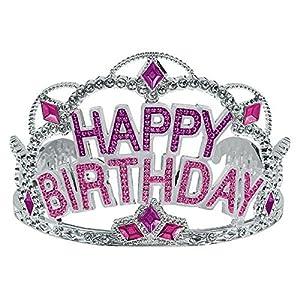 "Majestic Birthday Gem Tiara Party Wearable Favours Headwear,3"" x 4""."