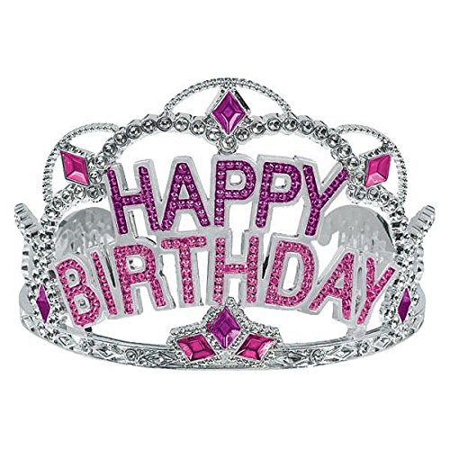Birthday Tiaras (Majestic Birthday Gem Tiara Party Wearable Favours Headwear,3