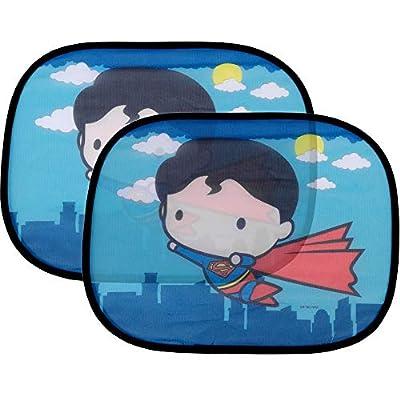 2 Pack Cute Chibi Superman Side Car Window Sun Shade - 17