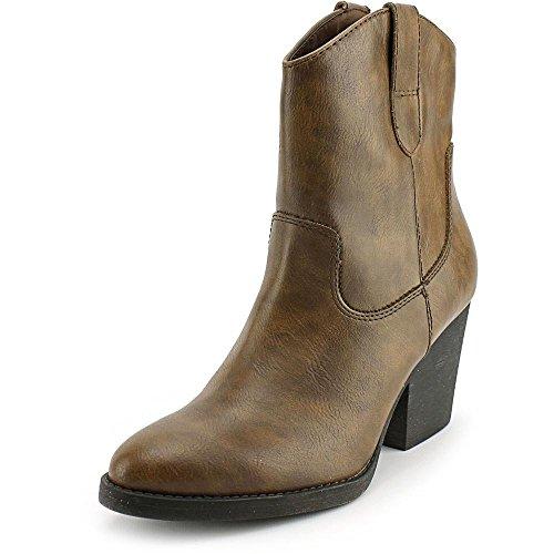 Madden Girl Women Ramz Western Boot Cognac