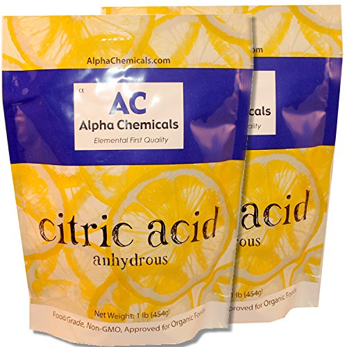 Non-GMO Project Verified Citric Acid - 2 Pounds - Organic, 100% Pure - Alpha Chemicals