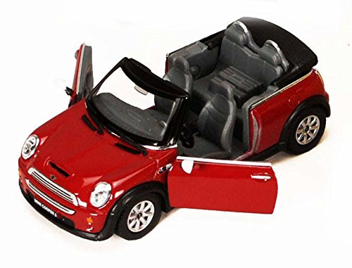 Mini Cooper S Convertible, Ruby - Kinsmart 5089D - 1/28 scale Diecast Model Toy Car